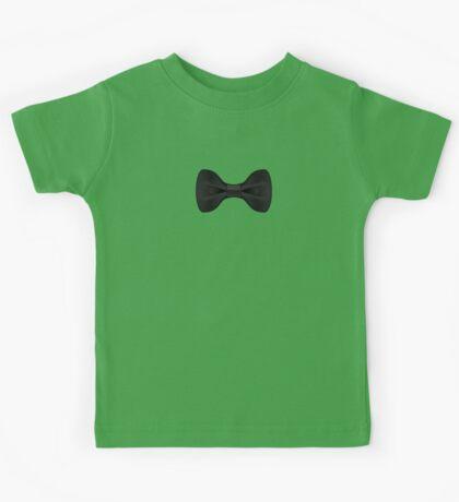 Simple Black Bow Tie Musician Kids Tee