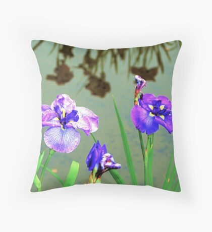 Flowers and Reflection of Flowers Throw Pillow