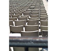 Plastic Chair Set Seats Rows Stadium  Photographic Print