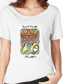 Little alien's spaceship Women's Relaxed Fit T-Shirt