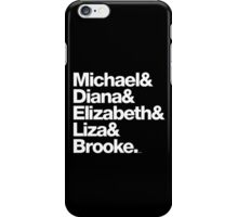 Michael Jackson & Diana Ross & Liz Taylor iPhone Case/Skin