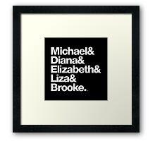 Michael Jackson & Diana Ross & Liz Taylor Framed Print