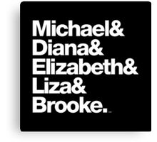 Michael Jackson & Diana Ross & Liz Taylor Canvas Print