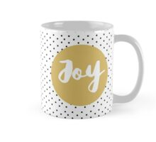 Joy Christmas holiday / polka dots Mug