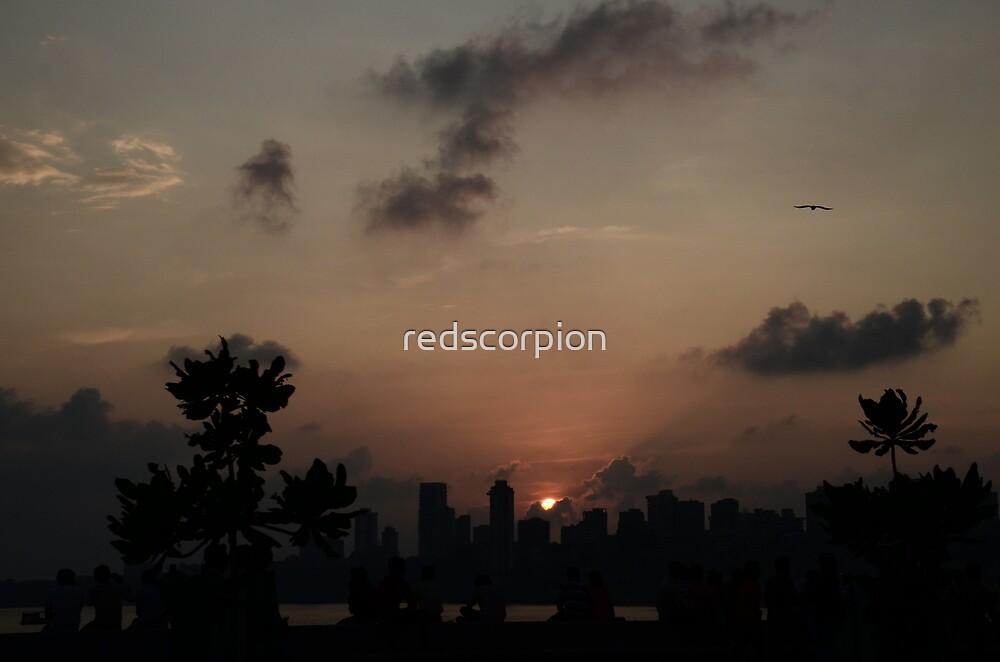 Mumbai Sunset by redscorpion