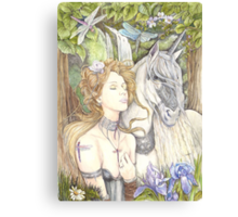 Aeshna and Unicorn Canvas Print