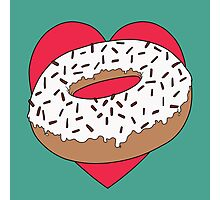 Love Doughnuts Photographic Print