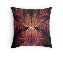 Purple Fronds Throw Pillow