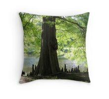 Trees Knees Throw Pillow