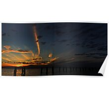 Springs at Sunset - Clifton Springs Victoria Poster