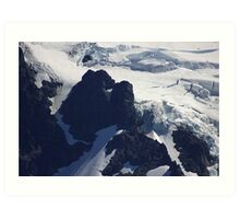 where glacier meets mountain Art Print