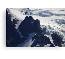 where glacier meets mountain Canvas Print