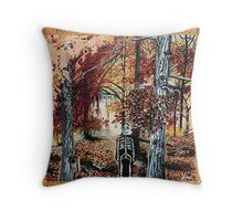'The Quiet Breath of Autumn' Throw Pillow