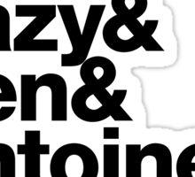 N.W.A Eazy-E Dr. Dre Ice Cube Helvetica Threads Sticker