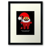 SAVAGE SANTA Framed Print