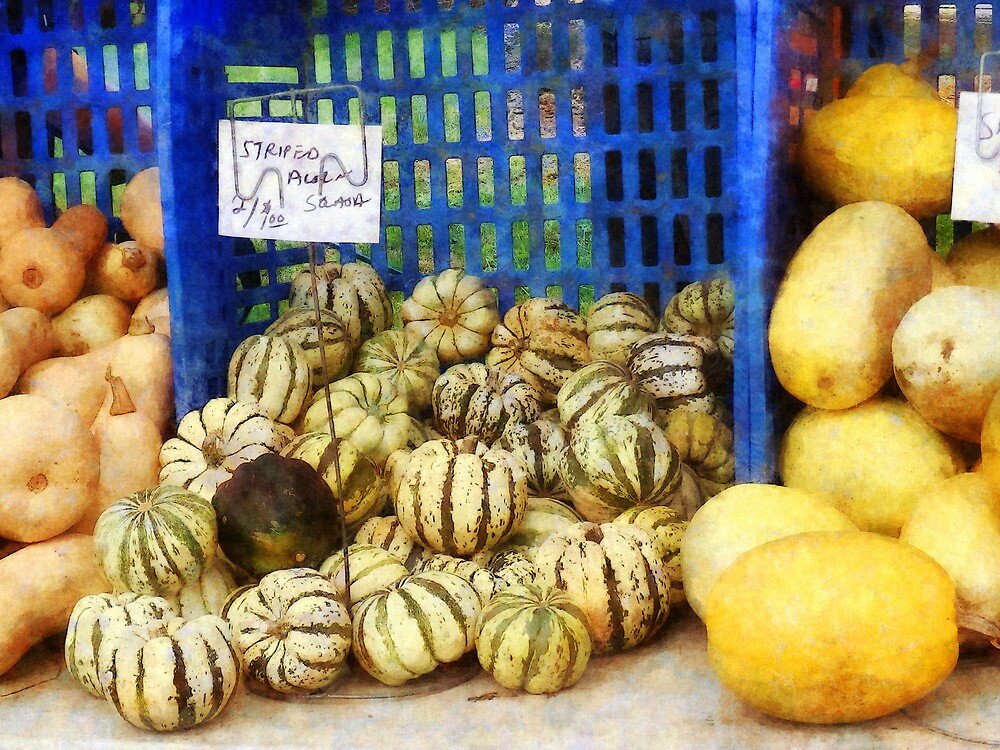 Squash at Farmer's Market by Susan Savad
