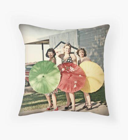 Pinup Girls Throw Pillow
