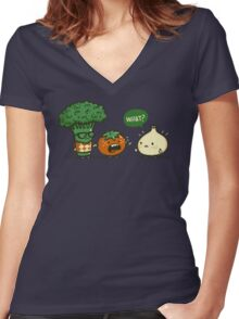 Accidental Bully Women's Fitted V-Neck T-Shirt