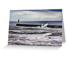 Harbour Light at Tynemouth,Northumberland Greeting Card
