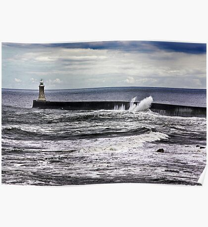 Harbour Light at Tynemouth,Northumberland Poster