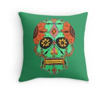 Candy Skull #3 Throw Pillow