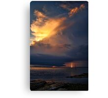 Striking Lightning Canvas Print