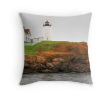 Cape Neddick (Nubble) Lighthouse Throw Pillow