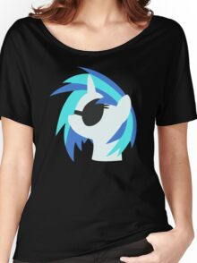 Vinyl Scratch sillhouette 2  (No boarder) Women's Relaxed Fit T-Shirt
