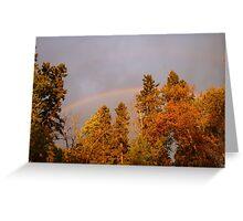 Sept. Morning Rainbow Greeting Card