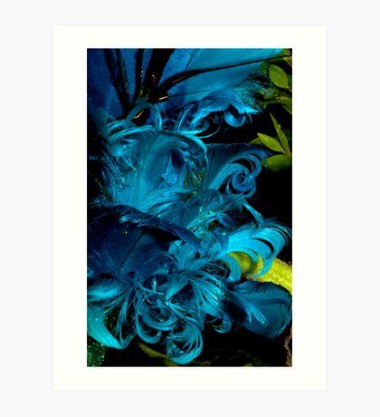 Blue Plumage Art Print