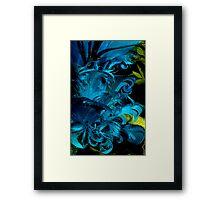 Blue Plumage Framed Print