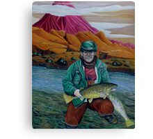 Fishing On Mars Is Great Canvas Print