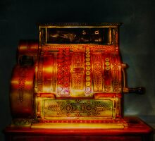 Vintage Cash Register, Royal Museum Edinburgh Scotland by Den McKervey