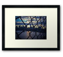 Manhattan: Caged  Framed Print
