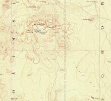 USGS Topo Map California Modoc Lava Bed 299832 1892 250000 Sticker