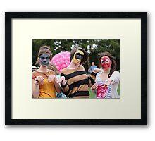 Superhero squad Framed Print