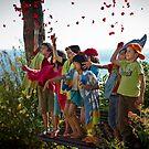 Greeting kids by MarceloPaz