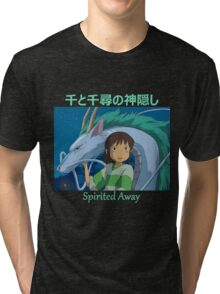 Spirited Away -  Haku and Chihiro - (Designs4You) Tri-blend T-Shirt