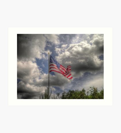 Old Glory in HDR Art Print