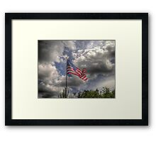 Old Glory in HDR Framed Print