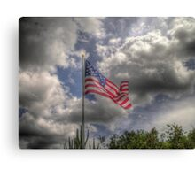 Old Glory in HDR Canvas Print