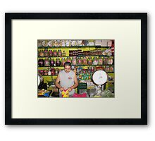 Mexican farmers market Framed Print