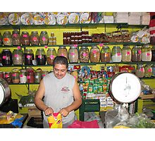 Mexican farmers market Photographic Print
