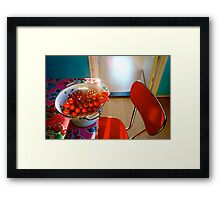 kitchen , favorite place to be Framed Print