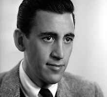J.D. Salinger Black and White Portrait by yungbean