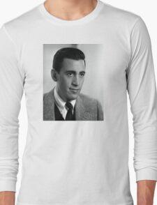 J.D. Salinger Black and White Portrait Long Sleeve T-Shirt