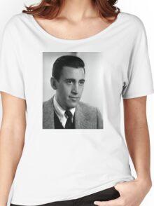 J.D. Salinger Black and White Portrait Women's Relaxed Fit T-Shirt
