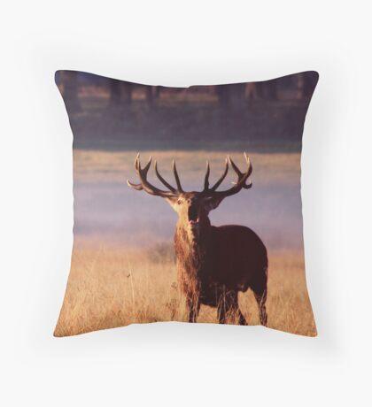 Deer Call Throw Pillow