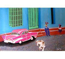 street life in Trinidad, Cuba Photographic Print