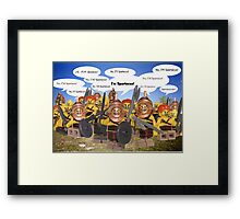 The Slaves' Revolt Framed Print